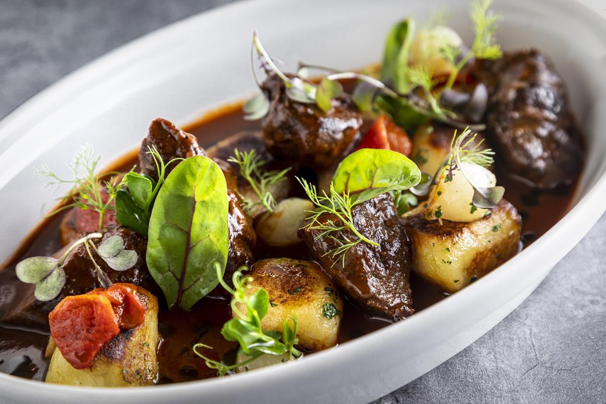 Mangalica-cheek-stew-onion-potato-dumpling